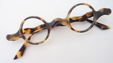 Texso Kleine runde Gläser Herren Brille Brillengestell Neu Vintage havanna Gr.M