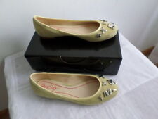 MISS SIXTY yellow suede ballerinas shoes size EU40/UK7, NEW