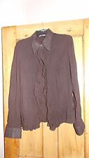 Brown Women's Crinkle Shirt  - Size 12