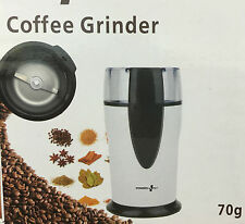 New Electric Whole Coffee Grinder & Nut,Beans,Spice grinder Power Plus in White