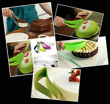 GREEN Home Kitchen Party Level Silicone Cake / Pie Slicer Cutter Spatula