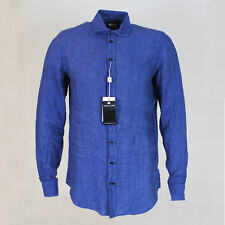 Armani Collezioni Navy Linen Shirt. Size: Small - RRP: £195 NEW WITH TAGS