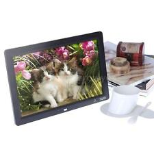 12'' HD TFT-LCD Digital Photo Frame Alarm Clock MP4 Movie Player +Remote TY A4JH