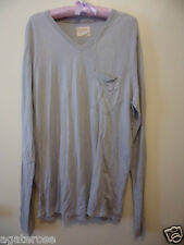 LONG SLEEVE TOP SHIRT SIZE L Gypsy 05 brand new grey made in Hollywood CA