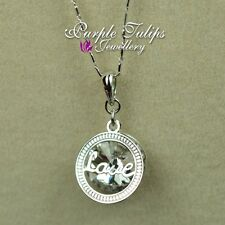 18CT White Gold Plated Sparkling Love Necklace W/ SWAROVSKI Crystals