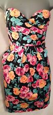 Multi Floral Print Sweetheart Mini Dress • New Look • Size 10 Party Occasion