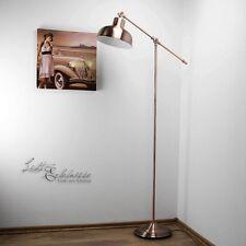 Vintage Stehleuchte in kupfer antik E27 60W H 135cm Stehlampe Wohnzimmerlampe