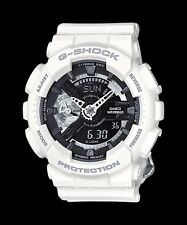 GMA-S110CW-7A1 White Casio Ladies Watches G-Shock Analog Digital Resin Band New
