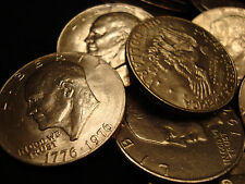 $100 Eisenhower SILVER Dollar Lot 1971-1978 EXTRA FINE TO UNcirculated Ike
