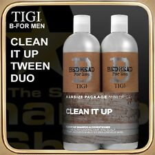 CLEAN UP Shampoo Conditioner (2x750ml) B FOR MAN TIGI Tween Duo