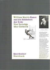 William Morris Kunst und die Schönheit der Ede  - RAR -
