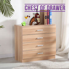 High Gloss Oak Chest of Drawers 4 Drawers Bedroom Contemporary Furniture