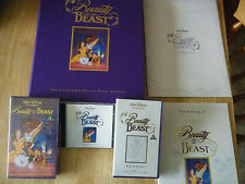 DISNEYS BEAUTY AND THE BEAST COLLECTORS DELUXE VIDEO VHS EDITION