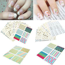 10 x Sheets 3D Design Nail Art Sticker Tips Decal Flower Manicure Stickers Mixed