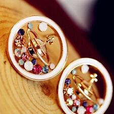 Vivienne Westwood gold sky blue Saturn Earrings