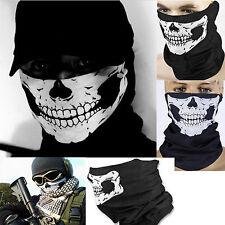 Skull Skeleton Motorcycle Biker Scarf Face Mask Snood Neck Bandana Ski Paintball