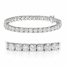 Christmas Special ..!! 4.00Ct Claw Set Round Diamond Tennis Bracelet, White Gold