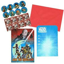 STAR WARS INVITATION CARDS & ENVELOPES (8 PACK) BIRTHDAY PARTY LOLLY LOOT BAG