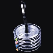 4 Spools Tippet Line (3/4/5/6X) Clear Fly Fishing Tippet Line withTippet Holder