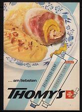 3w183/ Alte Reklame - von 1965 - THOMY´S - Nach Schweizer Art !