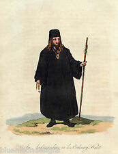An Archimandrite in his Ordinary Habit  by Porter 1809 Tracht Costume Ornat