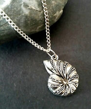 """Pretty SHELL Necklace 18"""" Chain Pendant Jewellery Beach FREE GIFT BAG"""
