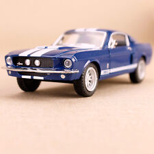 1967 Blue White Shelby GT500 Model Car 1:38 Die-Cast Collectible Stripes
