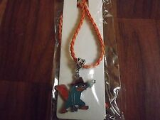 Cute Handmade Perry The Platypus Charm Pendant on a 18 inch Leather Necklace