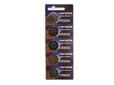 Renata CR2032 3v Lithium Watch Button Battery Pack of 5 CMOS, BIOS, MOTHERBOARD