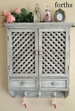 WALL CUPBOARD CABINET SHELF HOOKS BEAUTIFUL FRENCH COUNTRY VINTAGE SHABBY CHIC