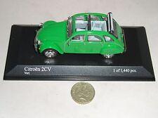 MINICHAMPS 400111501 CITROEN 2CV 1978 CAR LTD EDITION GREEN 1:43 PMA