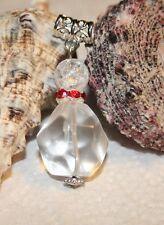 sehr großer Bergkristall facettiert Edelstein Unikat,Anhänger,für Halsband Kette