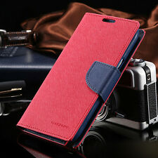 Korean Mercury Fancy Diary Wallet Case Cover for Samsung Galaxy Note 5 Red
