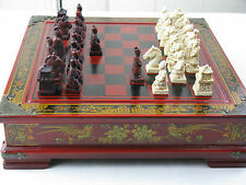 War Strategic Games, Chinese Figures, Chess Game in Wooden Storage Box + Drawers