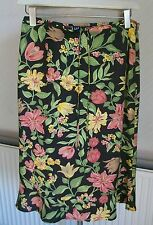 GAP Floral Viscose Skirt with Belt, Size 8, New without Tags