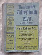 Hamburger Adressbuch 1926 Zweiter Band