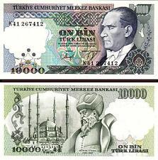 TURKEY 10000 10,000  LIRA 1970 (1989) UNC- P.200  K - SERIAL