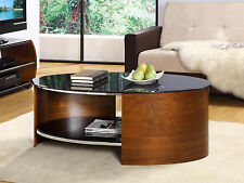 Jual Furnishings JF301 Retro Curved / Oval Coffee Table - Walnut