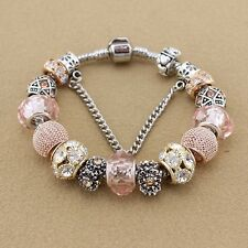 Open Pandora s Box & see SILVER, ROSE GOLD AND PALE PINK European Charm Bracelet