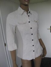 Marc Cain  exclusive Bluse N2/36 beige   3/4Arm