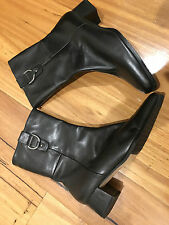 """NEW WOMENS HOMY PED-GEORGINA""""  ANKLE LEATHER BOOTS  SIZE: 7,RRP$132.95!!!!!!!!!"""
