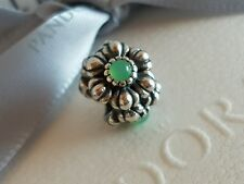 Pandora Birthday Blooms May Birthstone Flower Turquoise Chrysoprase 790580CH