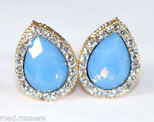 Earrings rhinestone Tear Drop design clip on studs costume jewellery E51541