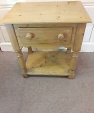Vintage antique pine dresser base side hall table with draw - dressing table