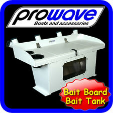 Bait board live bait tank 6 rod holders with window, LARGE