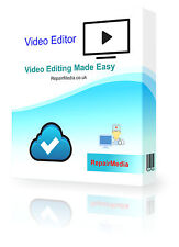 Video Editing Software Record Trim Cut Split Merge Rotate and Mix Videos PC DVD