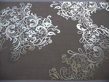 Deko Stoff Licio weiß/hellgrau-silber ღ Tischläufer Hochzeit Party ღ 250x28 cm
