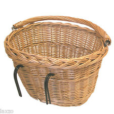 BASIL DENVER WICKER OVAL HOOK-ON FRONT BASKET FOR BIKE CYCLE BICYCLE LUGGAGE