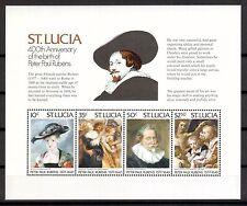 St.Lucia Michelnummer Block 13 postfrisch (Kunst 572 )