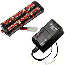 Electric RC 7.2v 2000mah NiMH Rechargeable Battery Pack and Charger Tamiya Car